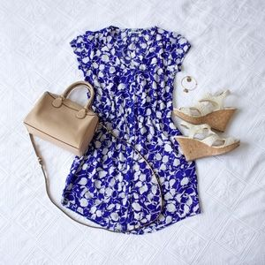 Floral Button Mini Dress